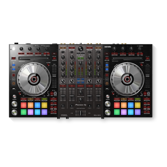 Pioneer DDJ-SX3 4 Channel Software Controller for Serato with 2 USBs & 3 Mic