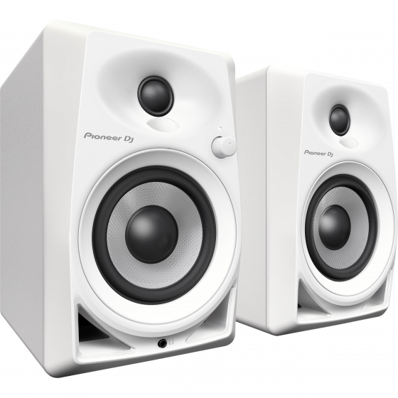 Pioneer DM-40-W (2) Active Desktop Monitors with 4 Inch Speakers - White