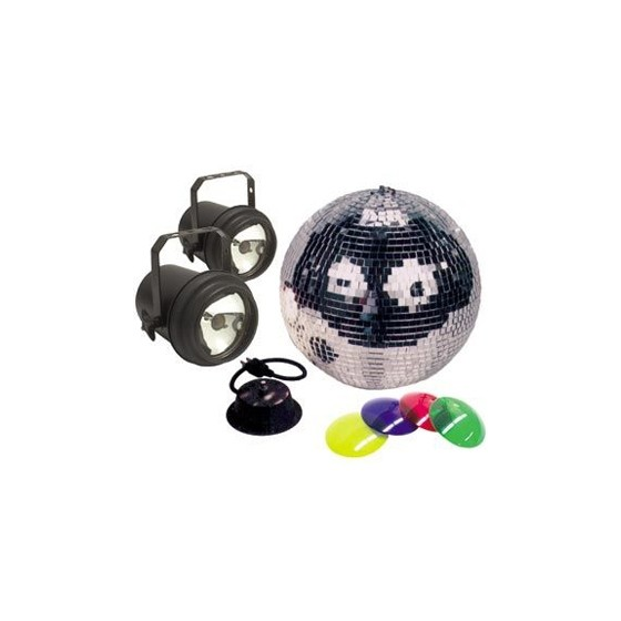 ADJ M 502l 12 Inch Mirrorball Package with Motor & 2x Pinspot