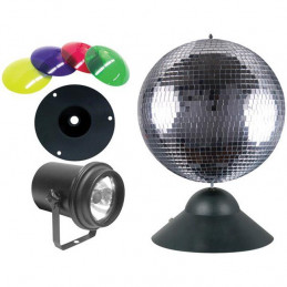ADJ Mb 8 Combo 8 Inch Mirrorball Package w/Pinspot/DC Motor & Lens