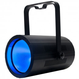 ADJ Cob Cannon Wash Black 150W Wash Fixture with a Quad RGBA COB LED