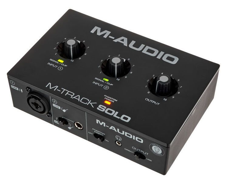 M-Audio M-Track Solo 48-KHz, 2-channel USB Audio Interface with 1 Crystal Preamp