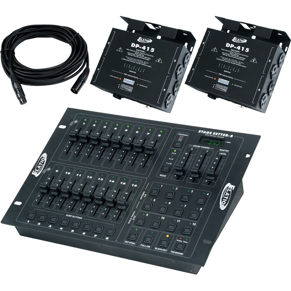 ADJ Stage Pak 1 Stage-Setter-8 Controller with 2xDP-415 Dimmers & Cables